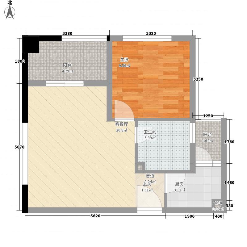 紫檀水景一居室17户型1室1厅1卫1厨