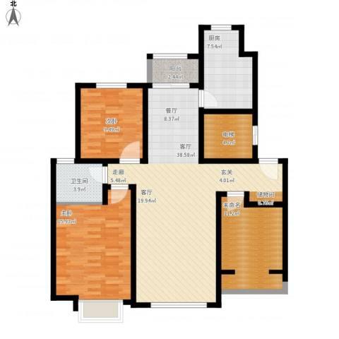 海亮・院里2室1厅1卫1厨108.13㎡户型图