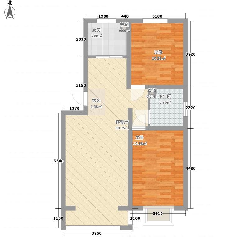 青熙境88.92㎡青熙境户型图A-80A户型2室2厅1卫1厨户型2室2厅1卫1厨