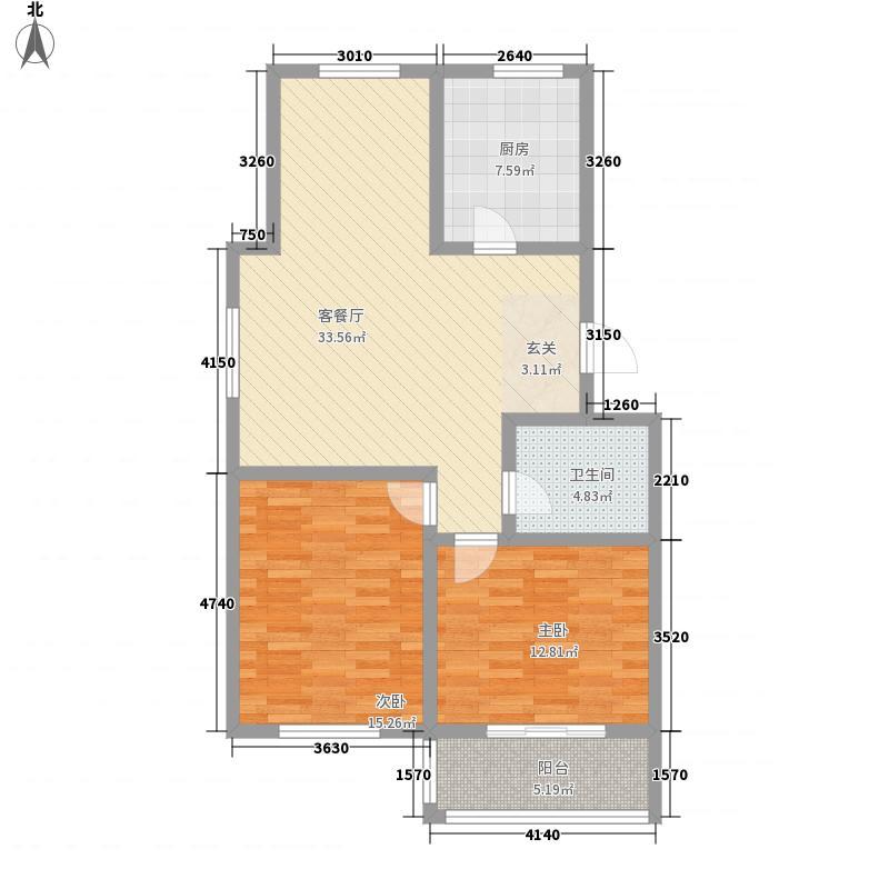 怡昌家园8.85㎡多层A户型2室2厅1卫1厨
