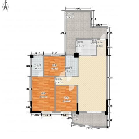 金泰瑞和园3室1厅2卫1厨173.00㎡户型图