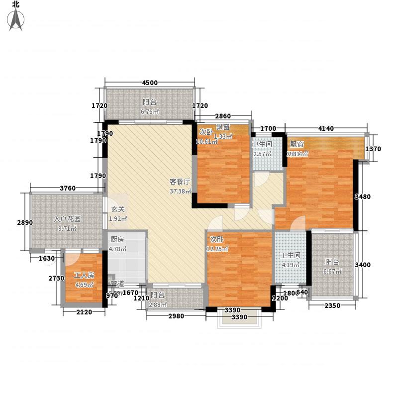 绿城绿园户型3室2厅1卫1厨