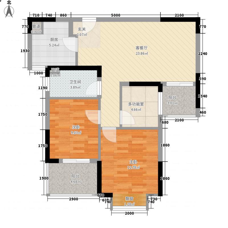 金岛御�世家8.15㎡6号楼B1户型3室2厅1卫1厨