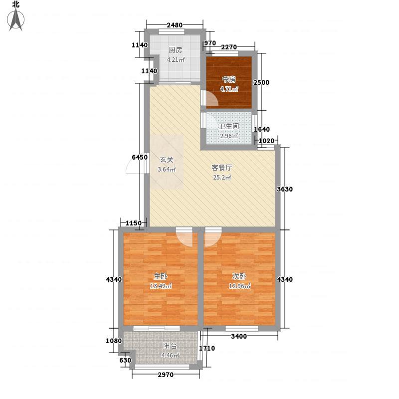 港湾明珠二期43#楼G433户型