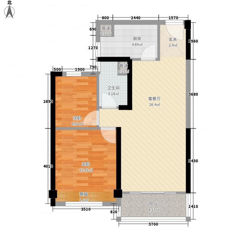 郑州碧桂园83.00㎡洋房YJ80-B户型2室2厅1卫1厨