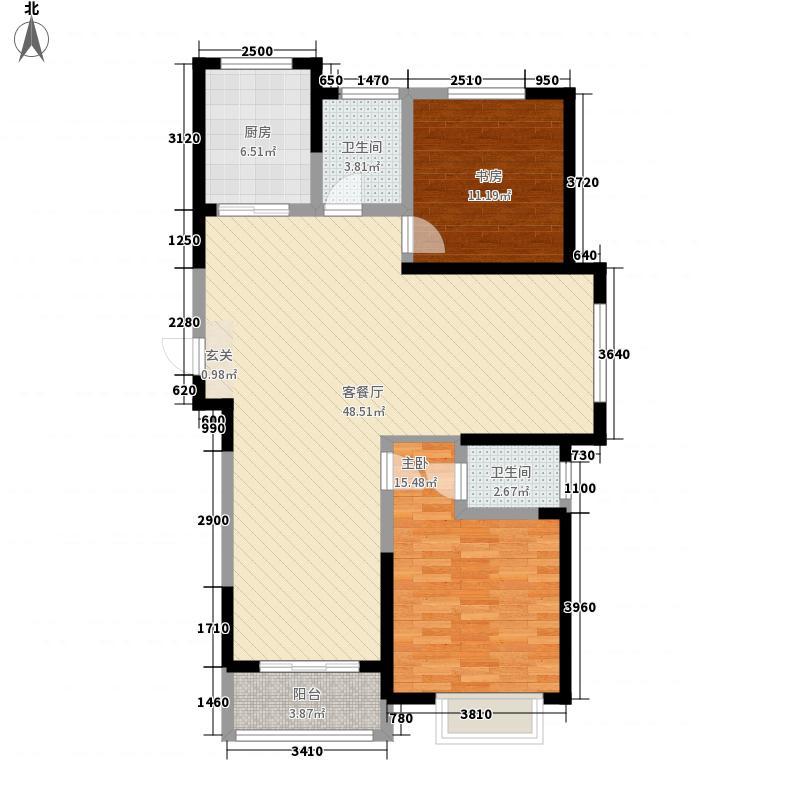 泰华曼哈顿2室1厅2卫1厨131.00㎡户型图