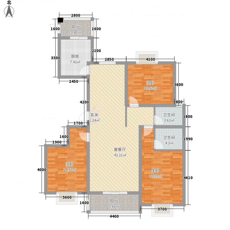 太原礼顿山3室1厅2卫1厨162.00㎡户型图