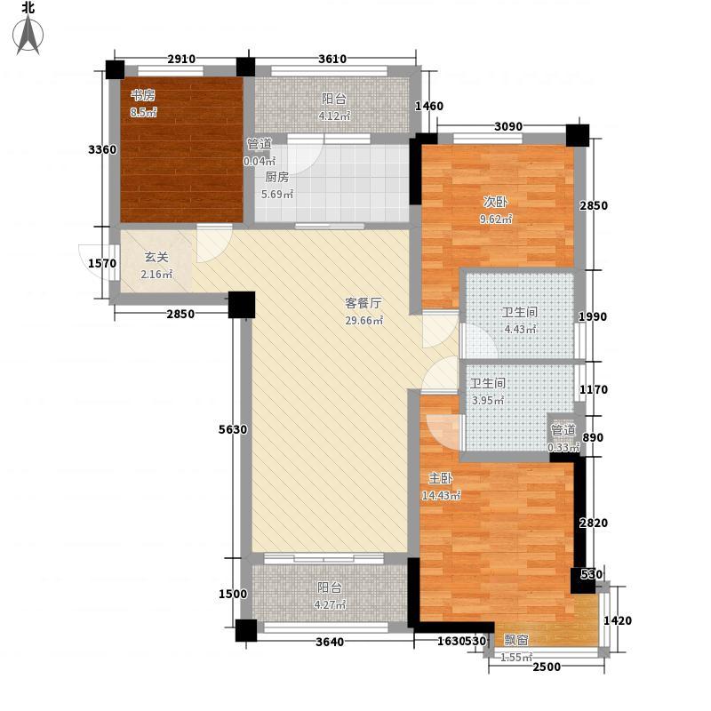 碧桂园・城市花园6、7、11、12号楼J552T-A户型