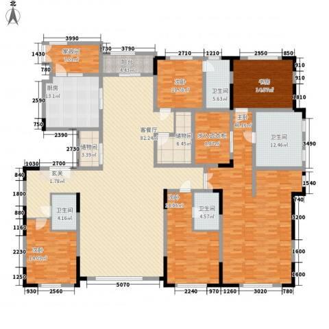 中海紫金苑5室1厅4卫1厨320.00㎡户型图
