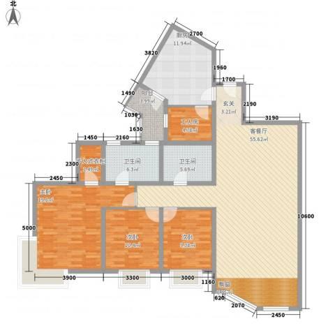 帝景花园3室1厅2卫1厨184.00㎡户型图