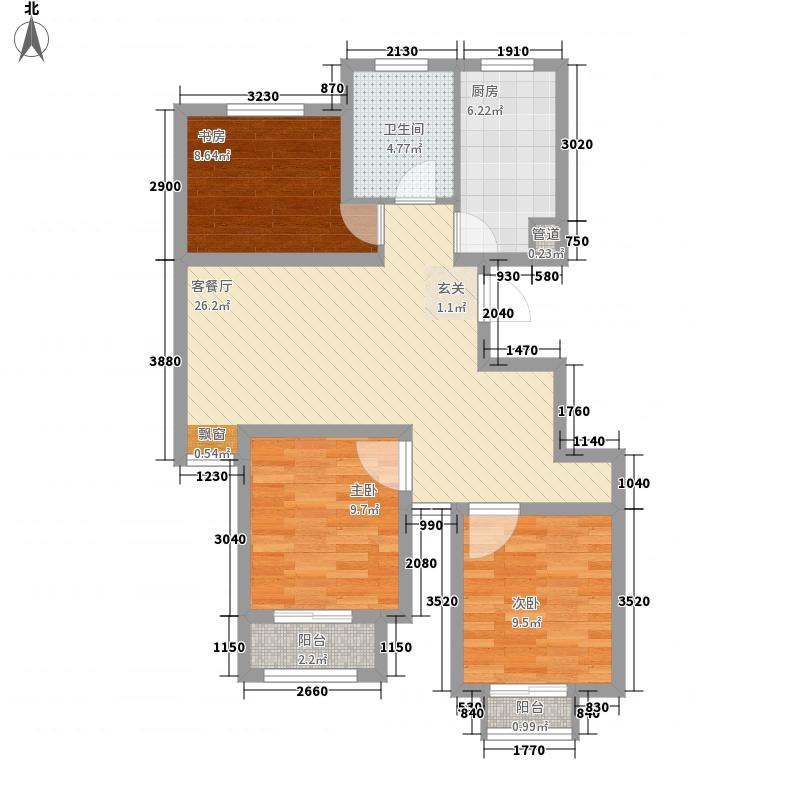 东亚风尚国际洋房标准层C3户型