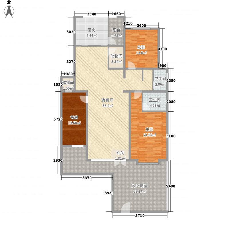 清韵百园165.21㎡B-1户型3室2厅2卫