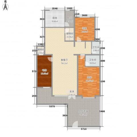 清韵百园3室1厅2卫1厨169.62㎡户型图