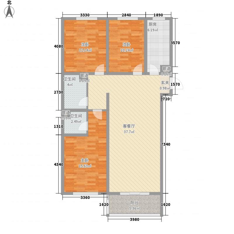 9�院131.58㎡院15号楼C-4户型3室1厅1卫1厨