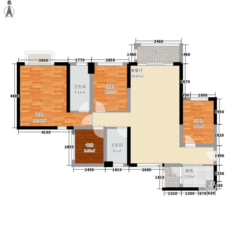 星河传奇4室1厅2卫1厨136.00㎡户型图