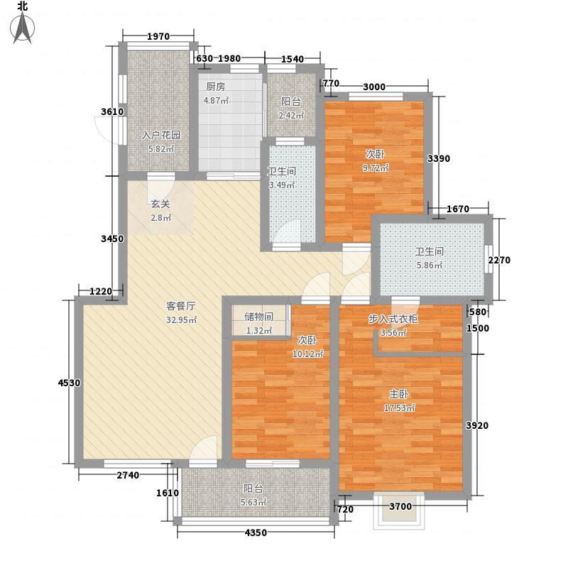 元氏现代城138.58㎡Ga户型3室2厅2卫