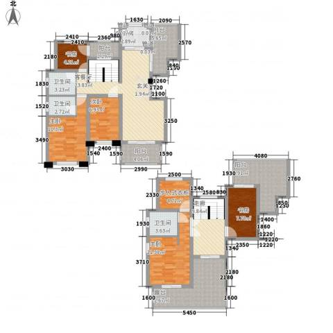 绿地泰晤士新城5室1厅3卫1厨126.69㎡户型图