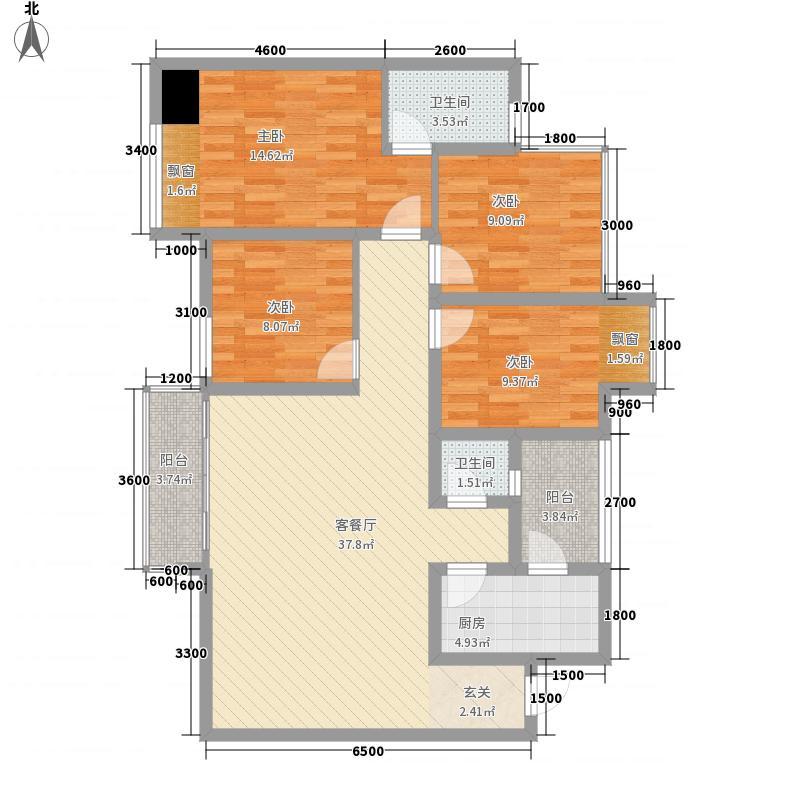 保利花园5期悦榕郡12.00㎡5期12号楼标注层C2户型3室2厅2卫1厨