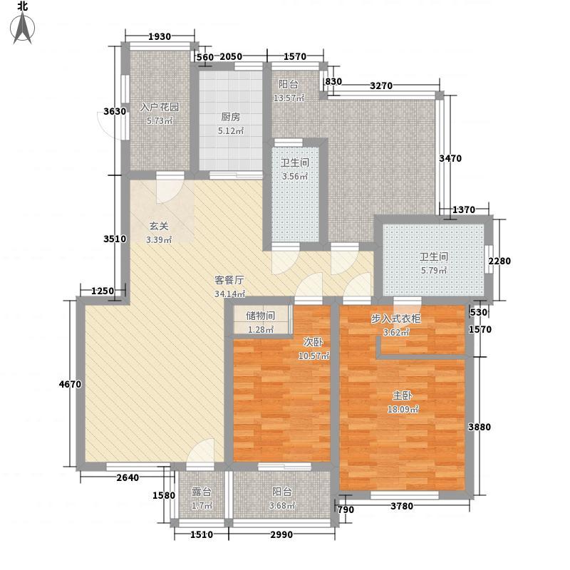 元氏现代城12.17㎡Ga户型2室2厅2卫