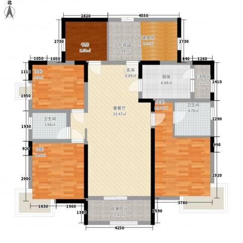 凯鑫华府4室1厅2卫1厨124.00㎡户型图