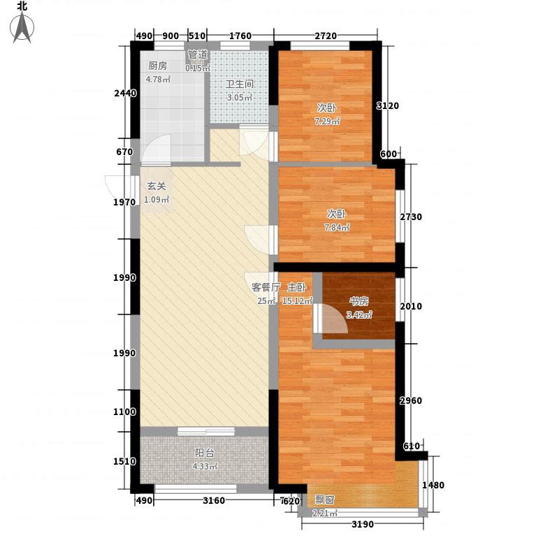 力高君御世家4室1厅1卫1厨103.00㎡户型图