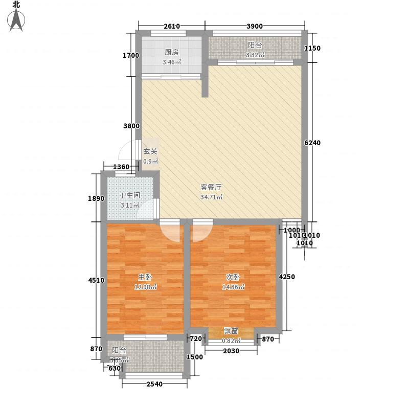 铜新小区4户型2室1厅1卫1厨