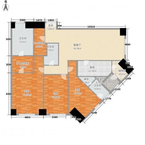 �臣津湾一品3室1厅3卫1厨269.00㎡户型图