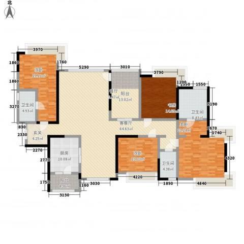 金域廊院4室1厅3卫1厨257.00㎡户型图
