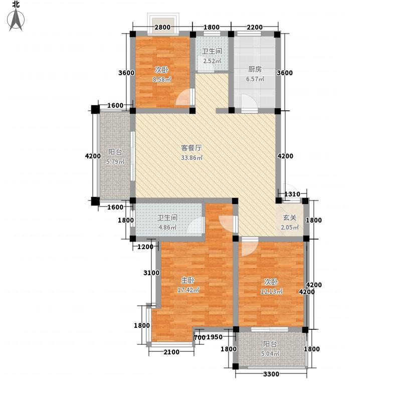 齐鲁涧桥136.65㎡齐鲁涧桥户型图C1户型3室2厅户型3室2厅