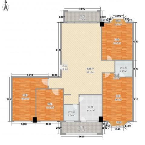 巴黎香榭4室1厅2卫1厨334.00㎡户型图