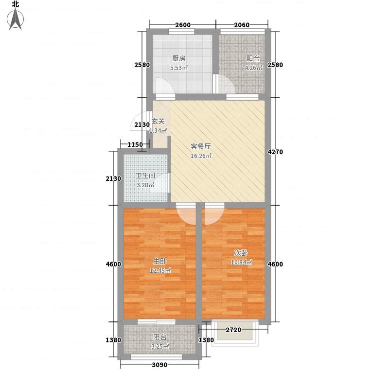 聚福家园81.80㎡4#、10#、11#、13#B户型