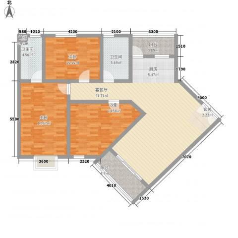 南新悦城3室1厅2卫0厨150.00㎡户型图