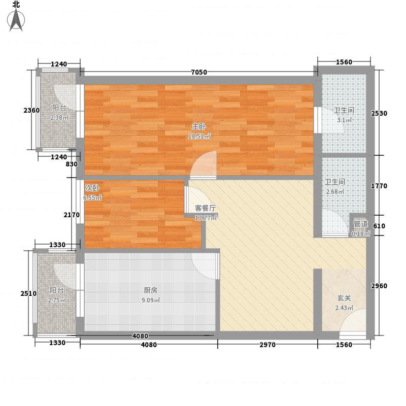 龙电花园89.96㎡龙电花园户型图2室1厅2卫1厨户型10室