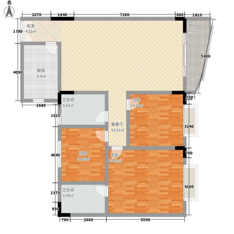 鸿怡花园187.00㎡鸿怡花园3室户型3室
