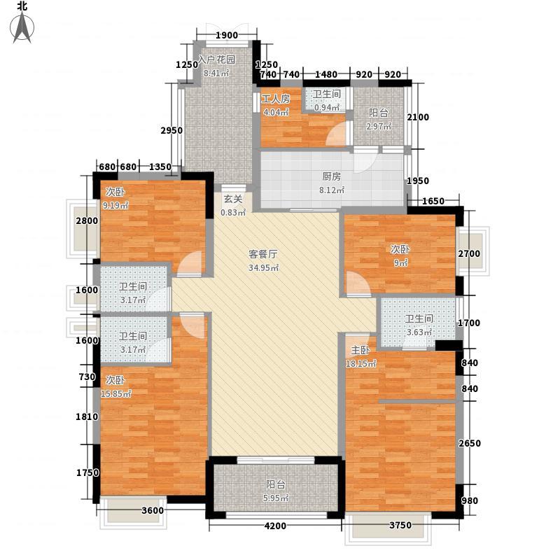 世纪城国际公馆四期世纪城国际公馆贝丽湖户型图贝丽湖C1户型图5室2厅3卫1厨户型5室2厅3卫1厨