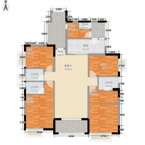 世纪城国际公馆 四期4室1厅4卫1厨181.00㎡户型图