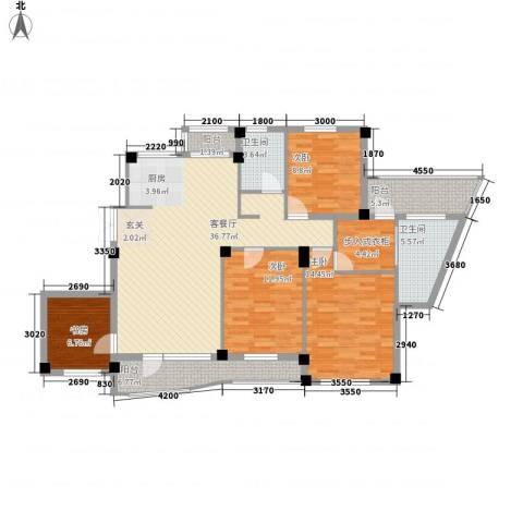 海富经典4室1厅2卫0厨140.00㎡户型图