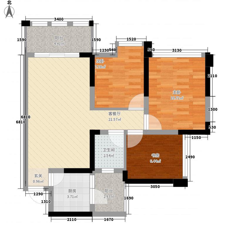 传化国际新城87.31㎡1期29-32栋标准层C2/D2户型2室2厅2卫1厨