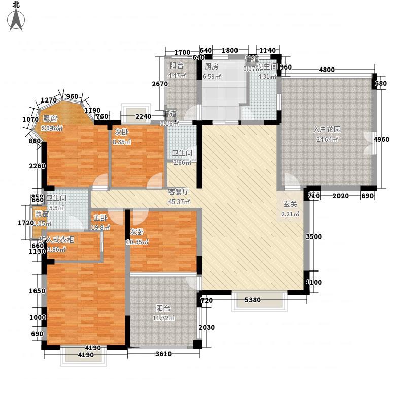 满园171.00㎡满园户型图C1户型奇数层4室2厅3卫1厨户型4室2厅3卫1厨