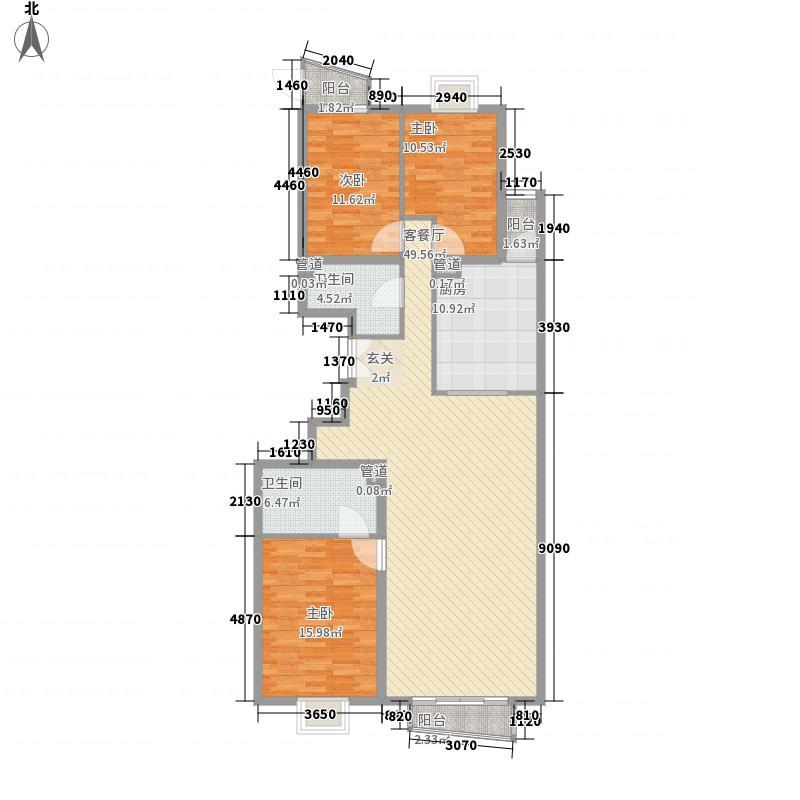 华源冠军城168.49㎡3号楼2单元01户型3室2厅2卫1厨
