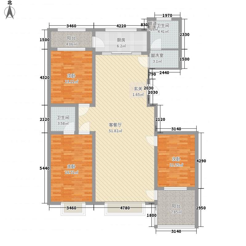 美林御苑174.00㎡15#E7户型3室2厅2卫1厨