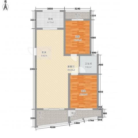 新富专家公寓2室1厅1卫1厨123.00㎡户型图