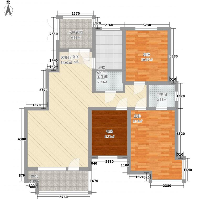 万恒领域13.00㎡C4户型3室2厅2卫