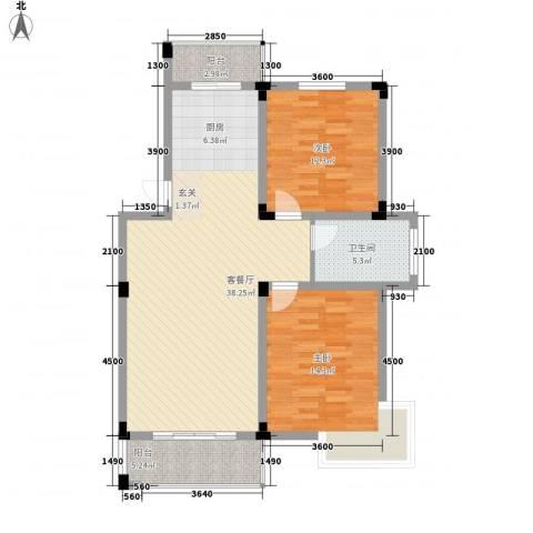家天下2室1厅1卫0厨78.36㎡户型图