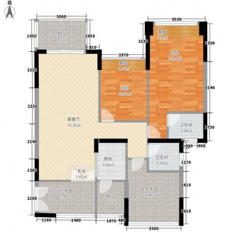 三远大爱城2室1厅2卫1厨138.00㎡户型图