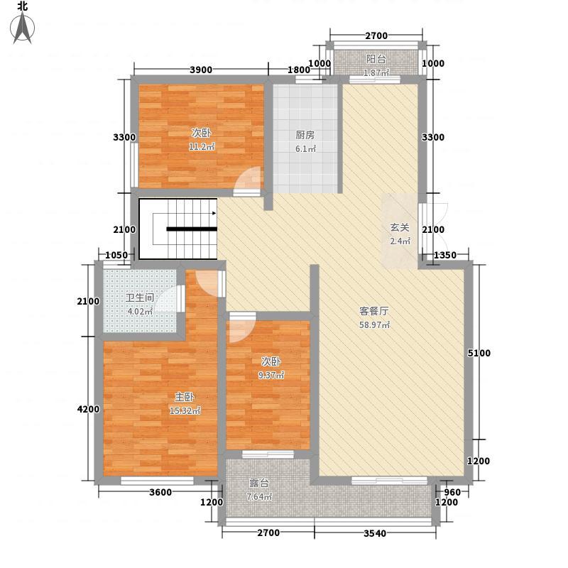 帝景传说山邸213.35㎡帝景传说山邸户型图叠院洋房C1-1户型楼下6室3厅2卫1厨户型6室3厅2卫1厨