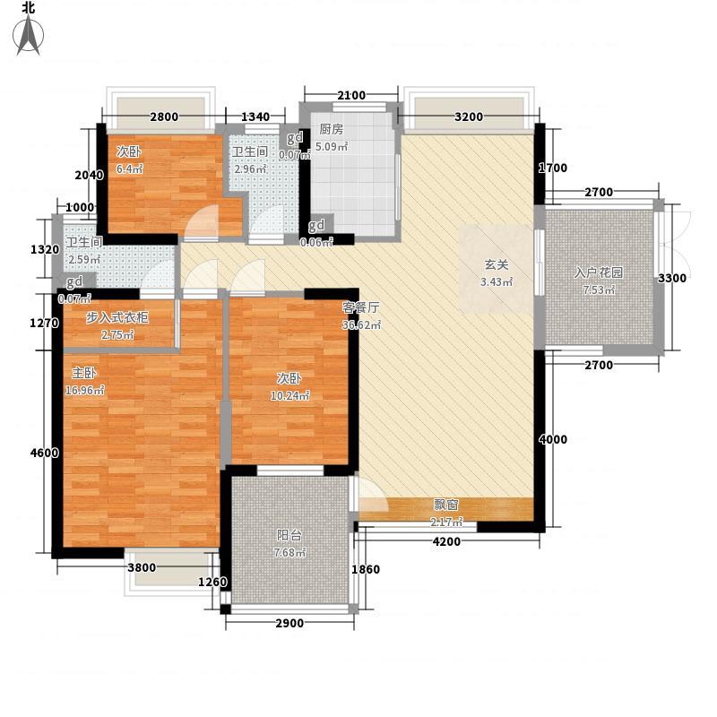 星光礼寓12.67㎡2栋2-27层0户型3室2厅2卫1厨