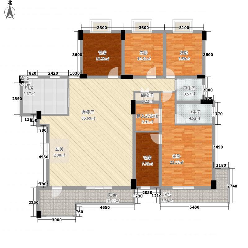 中铁世纪金桥5室1厅2卫1厨188.00㎡户型图