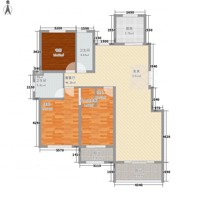 青云国际城158.00㎡H8户型3室2厅2卫1厨