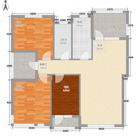 益溢苑3室1厅1卫1厨133.00㎡户型图